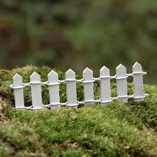 colorful mini wood picket fence micro