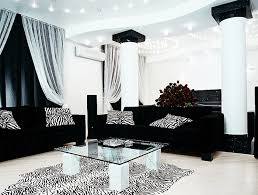 awesome black leather modern sofa in white theme living room with cool vanity lighting