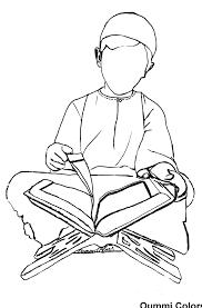 Coloriage Lecture Du Coran Par Un Petit Gar On Islamic Ramadan