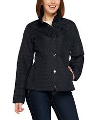 Isaac Mizrahi Live Size Chart Isaac Mizrahi Live Black Brushed Back Quilted Jacket