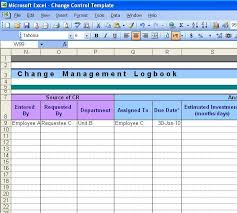 Document Change Log Template