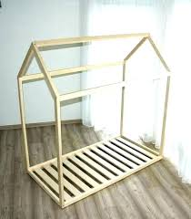 toddler floor bed house plans with rails twin height frame twins home improvement glamorous or diy