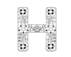 All other letters here, in alphabet category. Letter H Coloring Pages For Adults Coloring Pages For Kids Free Printable Coloring Pages Love Coloring Pages