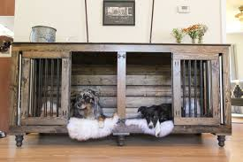 dog crates furniture style. unique furniture superb double dog crate furniture rustic indoor kennel in crates style