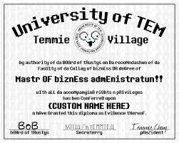 customized university of tem degree diploma undertale print 🔎zoom