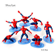 Cupcake Toppers Dolls Spiderman Toys Avengers Party Supplies Baby