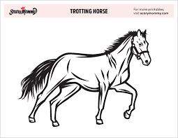 these free horse coloring pages are