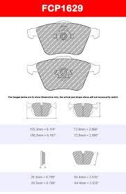 Brake Pad Cross Reference Chart Ferodo Fcp1629h Ds2500 Brake Pads