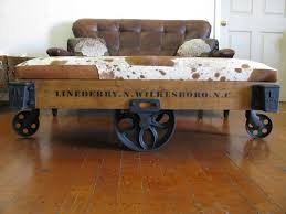 Mill Cart Coffee Table Repurposed Original Vintage Lineberry