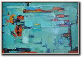 oversized horizontal contemporary art