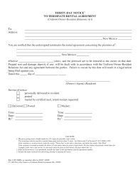 Rent Notice Letter 30 Day Rental Notice To Vacate With Property Template Plus