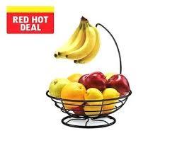 banana hanger with fruit basket view 1 simplehouseware bowl tree bronze
