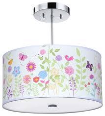 kids ceiling lighting. Flowers And Birdies Light Fixture Kids Ceiling Lighting
