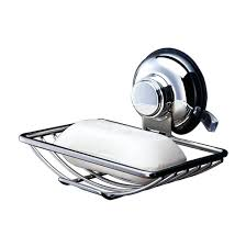 best vacuum suction soap dish holder bar sponge tray for shower bathroom tub and kitchen sink