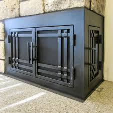 L-Shape Custom Fireplace Doors | Fireplace Door Guy