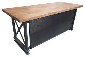 Industrial office desk Modern The Industrial Carruca Office Desk Shape Industrial Desks And Hutches By Iron Age Office Houzz The Industrial Carruca Office Desk Shape Industrial Desks And
