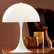 white panthella style table lamp scandinavian mid centurytable lamps