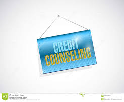 By Design Credit Counseling Credit Counseling Hanging Banner Stock Illustration