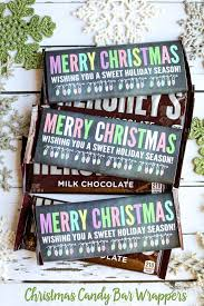 The front can be personalized with a thank you and their. Merry Christmas Candy Bar Wrappers