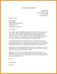 8 Accounting Internship Cover Letter Letter Adress