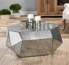 mirrored coffee table. Antheia Mirrored Polygon Coffee Table B