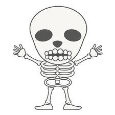 骸骨無料キャラクタークリップアート