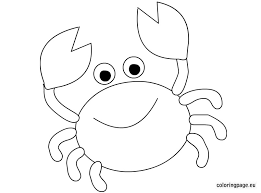 Small Picture Cute Crab Coloring Page