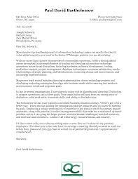 Cover Letter Information information technology cover letter examples cover letter 1