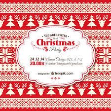 Free Christmas Invitation Template Vintage Christmas Invitation Template Vector Free Download