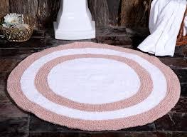 saffron fabs bath rug cotton 36 inch round reversible c white machine