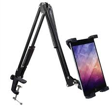 Telescopic Mobile Rack Shelf Tablet PC Holder Stand Removable ...