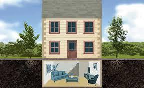 basement houses. Modren Basement Illustration Of A House With Basement Intended Basement Houses