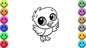 bird coloring pages. Beautiful Coloring How To Draw Cute Bird  Coloring Pages For Kids Art Colors Children With N