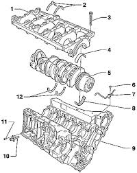 Removing and installing r s crankshaft bearings volkswagen rh automanuals biz ford expedition 5 4 engine diagram ford 5 4 engine parts diagram