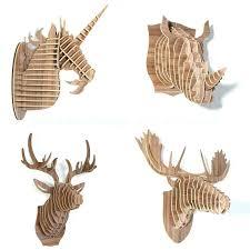 moose head wall mount moose head wall mount homemade moo simple wooden decoration faux moose head