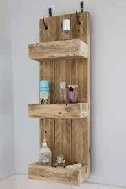 Amazing Rustic Bathroom Shelves Made From Reclaimed Pallet Wood Rustic Wood  Bathroom Shelves Ideas