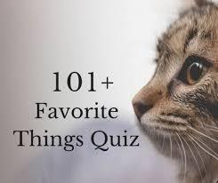 The 101 Favorite Things Quiz Hobbylark