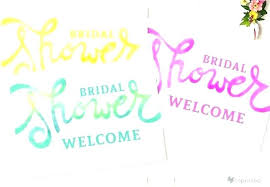 Free Signage Template Bridal Shower Welcome Sign Template Watercolor Floral