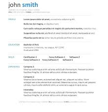 Microsoft Word Professional Resume Template Wonderful Professional Resume Templates For Microsoft Word