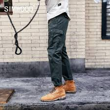 SIMWOOD <b>2019</b> autumn 100% pure linen ankle length pants men ...