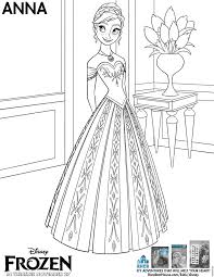 Frozen Anna Coloring Page Pdf