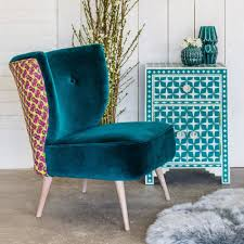 Teal Chair Alpana Teal Velvet Chair Seating Graham And Green