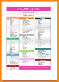 Wedding Checklist Template Gorgeous Wedding Checklist Template Excel Haydenmediaco