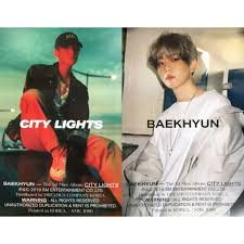City Lights Poster Baekhyun Exo Baekhyun City Lights Poster Entertainment K Wave On