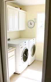 Interior:Basic Laundry Room Design Idea With Small Space And Light Yellow  Wall Basic Laundry