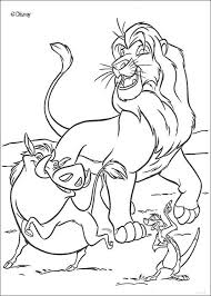 Singing Simba Timon And Pumbaa Coloring Pages