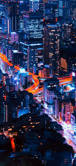 ns38 pastel city blue red night nature 41 iphone wallpaper iphone x