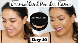 Dermablend Powder Camo Review Oily Skin Scarring