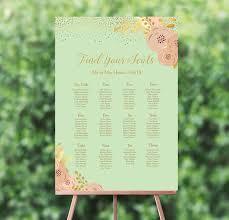 Mint Blush Gold Wedding Seating Plan
