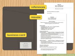 Resume For An Interview How To Present A Resume In An Interview 10 Steps With